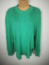 WOMENS SUPERDRY MINT GREEN CABLE KNITTED JUMPER SWEATER PULL OVER SIZE L LARGE