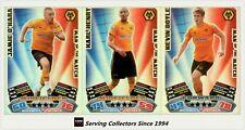 2011-12 Match Attax EPL Soccer Man Of Match Foil Card Team Set (3)-Wolver