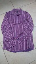 Burgundy and Grey Striped Long Sleeved Shirt – Daniel Hiechter – XL