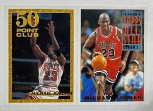 (2) Michael Jordan 1993-94 Topps 50 Point Club All Star Team Gold Foil Lot BULLS