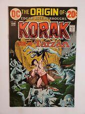 KORAK, SON OF TARZAN #49 (VF-) 1972 JOE KUBERT STORY, COVER & ART; ORIGIN ISSUE!