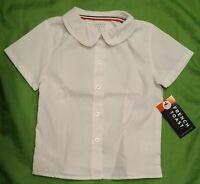 NWT 3t French Toast white Peter Pan Collar Shirt girls button short slv uniform