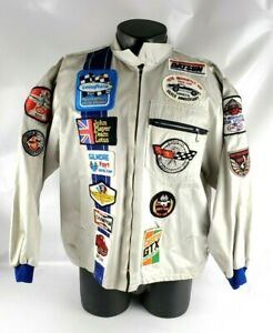 VTG Tom Bigelow Race Jackets Foyt Racing Team RARE 1970s 1980s Patches Adult XL