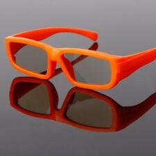 Orange Kids Circular Polarized Passive 3D Glasses For Real D 3D TV Cinema Movie