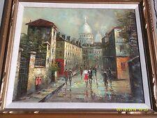 "Fine Art Oil Cityscape by renowned artist P.G. Tiele- 31 1/2"" x 27 1/2"""
