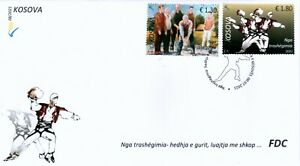 Kosovo Stamps 2021. The heritage; Sports. Throwing stones; Sticks. FDC MNH