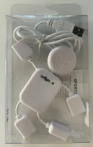 Smiggle Happy person USB Hub White. 4 Port Hi-Speed Hub