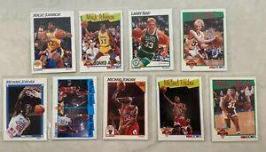NBA Hoops 1991-92 Basketball Card Complete Series 1 Set! 5 Michael Jordan cards!