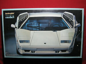 BIG 1989 Lamborghini Countach 25th Anniversary 1:16 Fujimi Kit Vintage Rare
