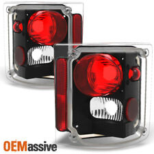 1978-1991 GMC Jimmy Chevy 1500 Blazer Pickup Black Tail Lights Replacement Pair
