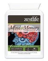 Zestlife Mind & Memory Support for mental agility, concentration & alertness