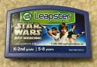 Star Wars Jedi Reading Leap Frog Leapster Learning Game Cartridge K-2nd Grade