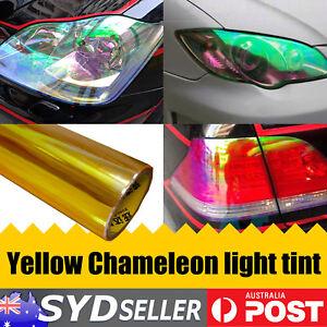 2M x 30cm Chameleon Yellow Headlight Tint Smoke Film Car Off-Road ATV Front Lamp