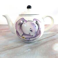 "Vintage Arthur Wood Elephant Double-Sided Artist Teapot Kettle 9.50"""