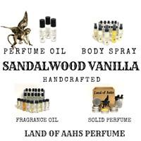 SANDALWOOD VANILLA Perfume / Body Spray / Fragrance Oil / Soothing Calm Scent