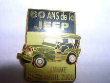 PIN'S VOITURE JEEP /  60 ANS  / LOMME  22-23 AVRIL 2000