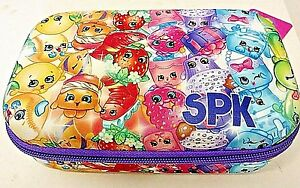 Shopkins Molded EVA Foam Pencil Case with Zippered Closure Multi-color Pattern