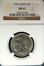 New listing 1926 Ngc Ms62 Greece 2D! #B5149