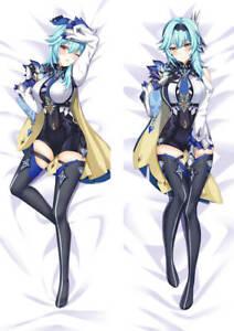 "Genshin Impact Eula Dakimakura Anime Body Pillow Cover Case 150x50cm 59"" 150x50"