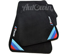BMW 3 Series F30 F31 Black Floor Mats With M Power Emblem & Clips RHD UK NEW