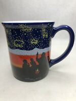 Pendleton Blue Ceramic Coffee Mug Rare Stars