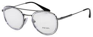 Prada Eyeglasses PR 66XV 07A1O1 49 Transparent/Gunmetal Frame  [49-22-140]