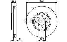BOSCH Juego de 2 discos freno 282mm ventilado MG EXPRESS 0 986 479 476