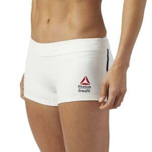 "Reebok 2017 CrossFit Games Women's Chalk White 2"" Knit Shortie Knit Shorts"