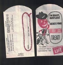 Halloween Hand-Out Bag from Life Magazine 1960 Moro Cowboy Jack-O-Lantern