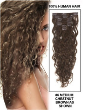 Romantic Angels18 Remy Brazilian Hair Clip in Curly Human Hair Extensions 70g