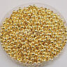 1000Pcs Gold Plated Smooth Round Ball Spacer Bead 3mm Jewelry Findings Charms