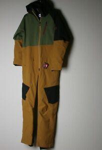 686 Men Glacier Hydra Coverall (L) Golden Brown L9W204-GLDB