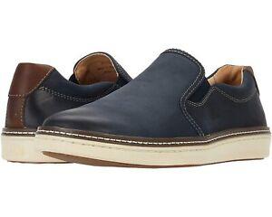 Johnston & Murphy Men Slip On Sneakers McGuffey Size US 9M Denim Oiled Leather