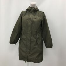 Max Mara Weekend Padded Parka Jacket UK 14 Khaki Green Hooded Casual 294026