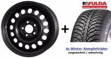 4x Winterräder VW Golf 7/Seat Leon 5F Stahlfelgen 195/65R15 Fulda Reifen