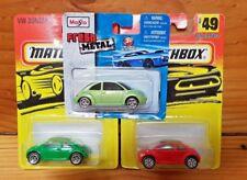 MATCHBOX 1-75 1997 VW CONCEPT (BEETLE) #49 RED & GREEN + free Maisto (A+/B-C)