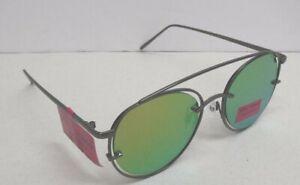 Betsey Johnson Women's Black Metal Frame Gray Tint Lenses 100% UV Sunglasses