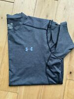 Under Armour Grey Mesh Back  Short Sleeve Training T-Shirt L