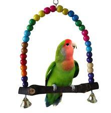 FD2555 Pet Bird Parrot Swing Toys Parakeet Cockatiel Budgie Wooden Cage Hanging