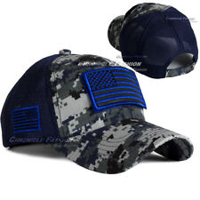 944ccf1491a USA American Flag Trucker Hat Baseball Cap MeshBack Tactical Military  Camouflage