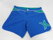 GUC Junior's Girls HURLEY Blue/ Green Swim Shorts Size 7