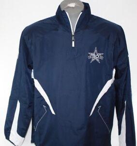 Mens Reebok NFL Dallas Cowboys 1/4 Zip 50th Anniversary 2010 Pullover Jacket