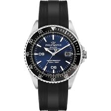 Orologio Philip Watch SEALION R8251209001 uomo watch SILICONE NERO 42MM BLU