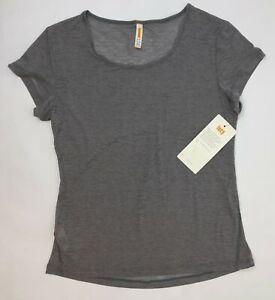Lucy Girl's Best Friend Burnout Short Sleeve Shirt Women Small Silverfiligree