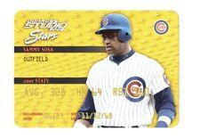2002 Donruss Studio Stars Gold #SS11 Sammy Sosa /250 Chicago Cubs
