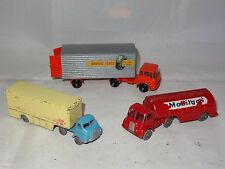 Lesney Matchbox LOT OF 3 MAJOR PACK MOBILGAS / DAVIES TYRES / WALLS ICECREAM