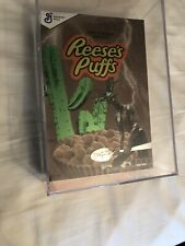 TRAVIS SCOTT X REESE'S PUFFS Cereal In Acrylic Case! (LIMITED EDITION) *IN HAND*