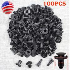 100pcs Black Plastic Rivets Car Bumper Fender Retainer Clip 18 x 20 x 8.5mm