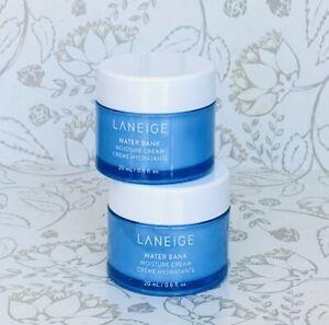 Lot of 2 LANEIGE Water Bank Moisture Cream 20ml / 0.6 oz each