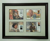 "Sojourner Truth & W.E.B. DuBois First Day Covers Framed - 18"" x 14"" FDC Stamps"